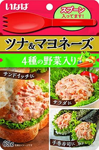 いなば食品 ツナ&マヨネーズ 4種の野菜入り 65g ×8個