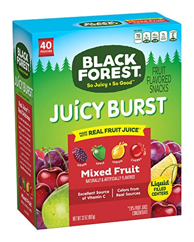 Black Forest Fruit Snacks Juicy Bursts, Mixed Fruit, 0.8 Ounce (40 Count) by Ferrara Pan Candy Co.