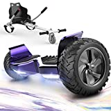 """GeekMe Hoverboards,Off Road Hoverboards with Hoverkart,8.5"""" Hoverboards All Terrain with APP, Bluetooth Speaker,LED lights"""