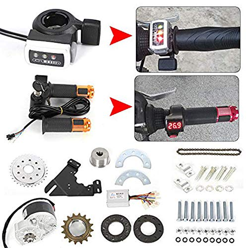 24V 250W Electric Conversion Kit For Common Bike Left Chain Drive Black for Electric Geared Bicycle Derailleur (thumb)