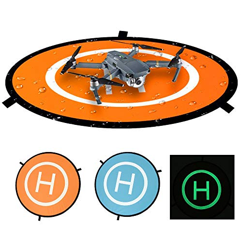 summerkimy Drohnen-Landeplatz DJI Mavic Pro Luminous Launch Pad Faltbar Wasserdicht für Phantom 4/3/2 Matrice Ympa Yuneec Typhoon (75 cm)