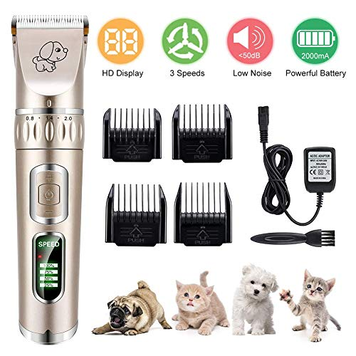 YOUTHINK Tosatrici Professionali per Cani, Kit Trimmer...