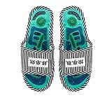 Zapatillas de masaje de acupresión, Sandalias de reflexología terapéutica con zapatos magnéticos para masaje de acupuntura de pies, Alivio del dolor del arco Shiatsu, Cuidado de pies sanos(Hombres)