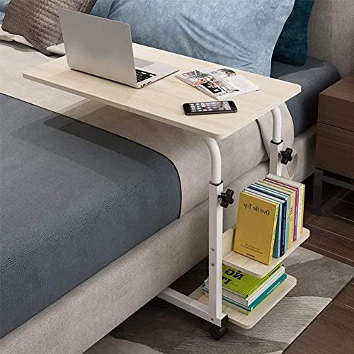 Laptopbord Sidobord Lap Table Overbed Table, Justerbart Med Hjul Bärbar Multifunktionell Avtagbar Bärbar Bordsbäddsoffa För Hemmakontor Sjukhus Äldre Patient W (Färg, B), A