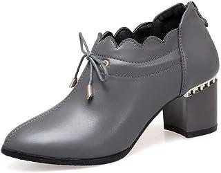 BalaMasa Womens APL12120 Pu Block Heels