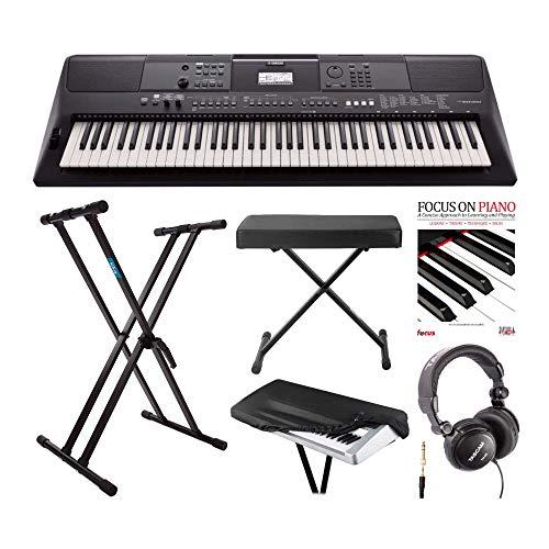 Yamaha PSREW410 teclado portátil de 76 teclas con adaptador...