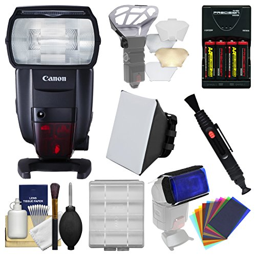 Canon Speedlite 600EX II-RT Flash with Soft Box +...