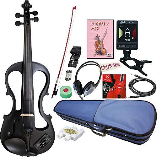 Hallstatt ハルシュタット エレキヴァイオリン EV-30/ブラック 4/4サイズバイオリン サクラ楽器オリジナル 初心者入門チューナーセット