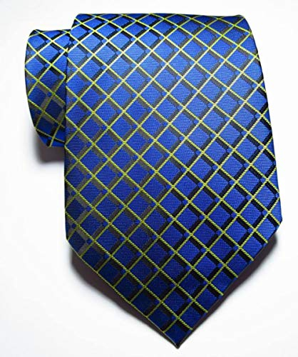 CCYUANG Krawatte Herren Karierte Krawatte Herren 9cm Seide Krawatte Set Blau Rosa Schwarz Schwarz Jacquard Herren Krawatte-1