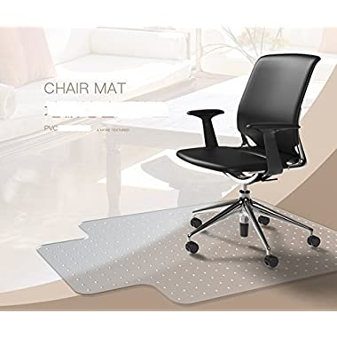 Heavy Duty Carpet Chair Mat Thick and Sturdy Transparent Chair mat for Low and Medium Pile Carpets Size 36  X 48  with Lip