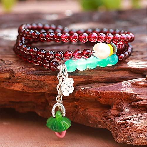 Feng shui riqueza pulsera granja natural abalorios de cristal pulsera coleccionable tres capas collar pulsera amazonita brazalete curación cristal afortunado encantos atraen buena suerte regalo de din
