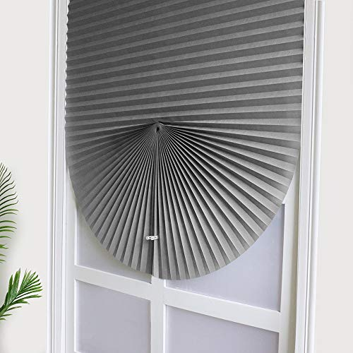 XINGX - Persianas enrollables, cortinas plegables, opacas, sin cordones, para la ventanas de la casa, tela, Gris, 23.6*59in