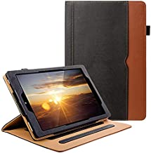 ZTOZ All New Kindle Fire HD 10 Tablet (9th/7th Generation,2019/2017 Released) Cover Case With Card Slots, 360 Protection Multi-Angle Viewing Stand Auto Sleep/Wake For Fire HD10 - Black/Brown