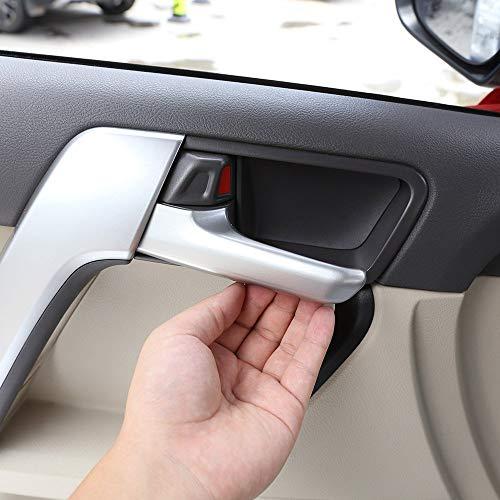 ABS Chrome en Plastique Intérieur Poignée De Porte Bol Garnitures Bande Accessoires De Voiture Argent Mat pour Land Cruiser Prado LC150 2010 à 2018