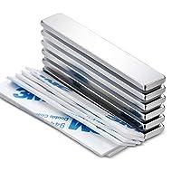 LOVIMAG Powerful Neodymium Bar Magnets, Rare-Earth Metal Neodymium Magnet - 60 x 10 x 3 mm, Pack of 6