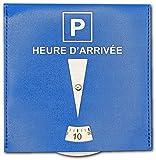 SQUATCH® | Disque de Stationnement pour Parking Zone Bleue | Simili Cuir Indéchirable | Format 15 x 15 cm
