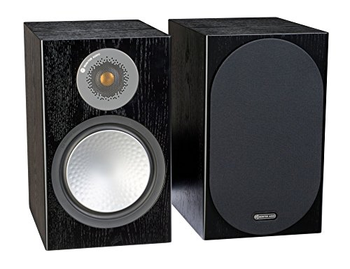Monitor Audio Silver 100 Bookshelf Speakers - Pair (Black Oak)
