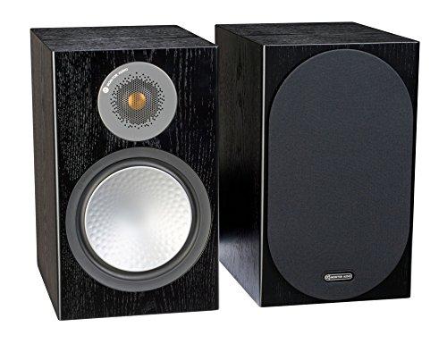 モニターオーディオシルバー100Bookshelf Speakerブラックオークペア