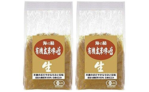 海の精 国産有機 玄米味噌 1kgx2個セット