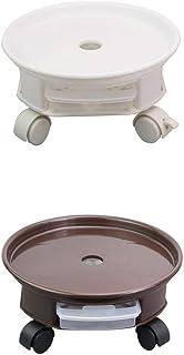 /Ø 300 mm Portata 60 kg Grigio Piastra di Pino Ruote in TPE con 2 Fermi Interni//Rullo per Fiori//Supporto per Il Trasporto di Piante Liscio Metafranc 825200 825200-Carrello