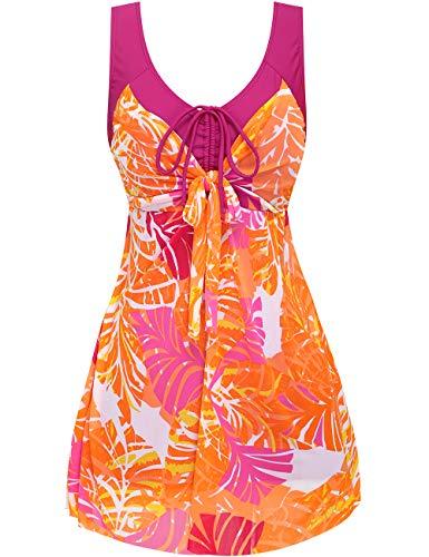 Wantdo Women's Swimsuit Dress Swimwear Beach Suit Plus Size Beach Skirt Redbanana L US 6-8