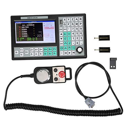 Sistema de control de movimiento CNC de 5 ejes con pantalla + volante, fresadora de grabado con control de enrutador CNC Sistema de controlador de movimiento independiente sin conexión para máquina de