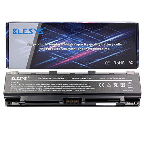 BLESYS PA5024U-1BRS PA5121U-1BRS PABAS274 P000573260 Kompatibel mit Laptop Akku Toshiba Satellite C855-S5206 C855-S5214 l855-11k L855-S5405 S875D-S7350 S875-S7240 P70-A Notebook Akkus (4400mAh)
