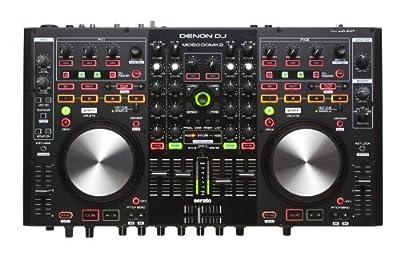 Denon DJ MC6000MK2   Premium Digital DJ Controller & Mixer with full Serato DJ Pro Download Voucher (4-Channel / 4-Deck / 8-Source) from Denon DJ