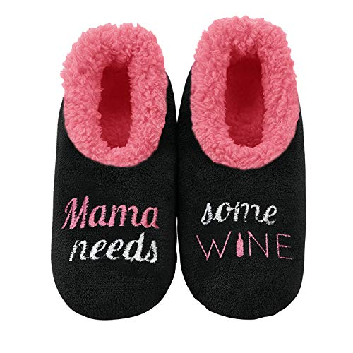 Mama Needs Some Wine Slippers