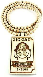 Hip Hop Jewels Wooden Zig Zag Papers Pendant Piece 36