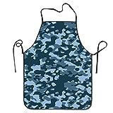 hgfjghf Unisex Blue Camouflage Multicam Hen Cooking BBQ Apron
