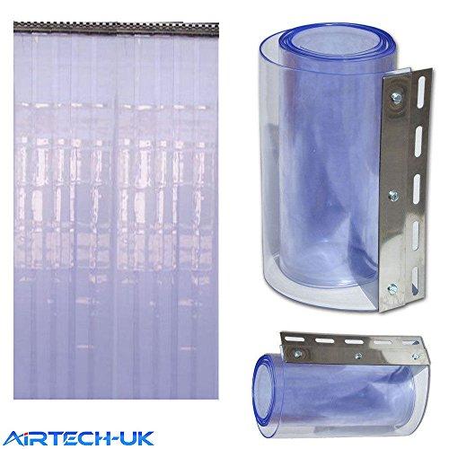 Tiras de PVC para puerta de refrigeración, solo 2 metros de caída, 2 mm x 200 mm de ancho, para catering en almacén, platos incluidos, totalmente listas para usar.