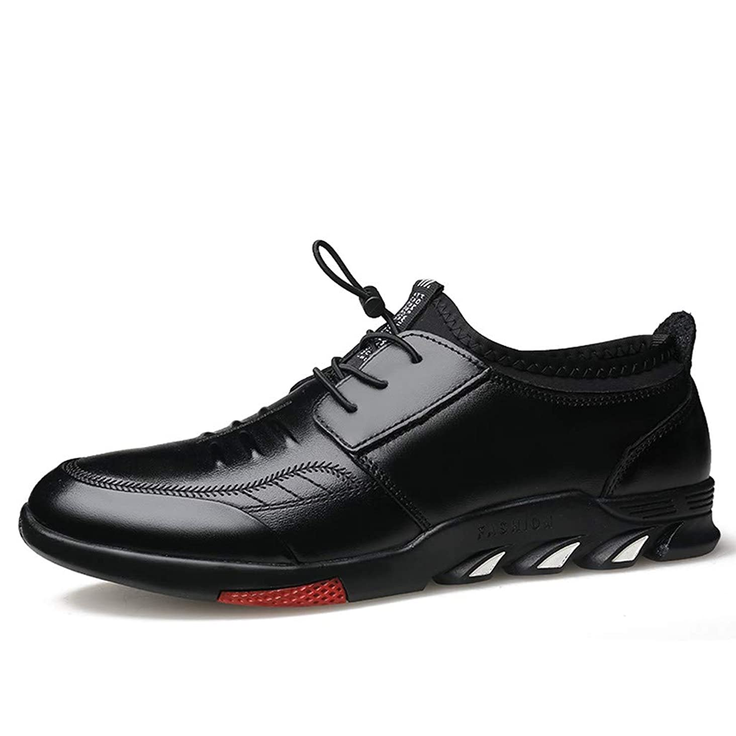 Respctful?Men's Fashion Oxford Genuine Leather Dress Shoes for Business Dress Casual Lace-Up
