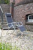 Greemotion Gartenliege Teramo in Grau-Sonnenliege klappbar-Klappliege mit Polster am Kopfteil-Liegestuhl - 2