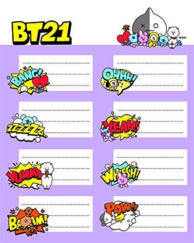 Etiquetas adhesivas BT21 - Etiquetas para libros / Pegatinas nombre libros