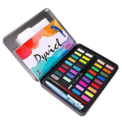 Dyvicl Watercolor Paint Set - 36 Vivid Colors (...