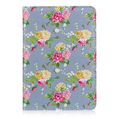 32nd Floral Series - Design PU Leather Book Folio Case Cover for Apple iPad Mini 1, 2 & 3, Designer Flower Pattern Flip Case With Built In Stand - Vintage Rose Fossil
