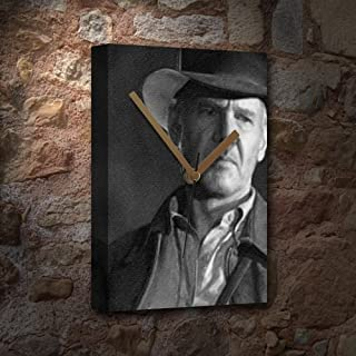 HARRISON FORD - Canvas Clock (LARGE A3 - Signed by the Artist) #js002