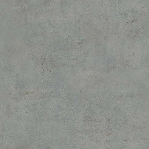 Rasch Tapeten 939545 Vliestapete in grauer Beton-Optik – 10,05m x 53cm (L x B) Vlies Tapete Rasch Kollektion Factory III, 10,05-0,53