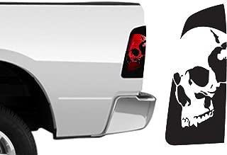 Factory Crafts Skull Brakelight Decal Graphics Kit 3M Vinyl Wrap Compatible with Dodge Ram 2009-2018 - Matte Black