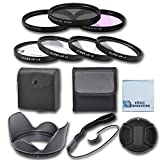 62mm High resolution Pro series Multi Coated HD 3 Pc. Digital Filter Set + 62mm Pro Series 4pc HD Macro Close Up Filter Set +1 +2 +4 +10 + Hard Tulip Lens Hood + Universal Lens Cap Keeper + Snap On Lens Cap For Sony 55-300mm f/4.5-5.6 DT Alpha A-Mount Telephoto Zoom Lens, 18-250mm f/3.5-6.3 DT Alpha A-Mount Wide-Telephoto Lens, 70-300mm f/4.5-5.6G ...
