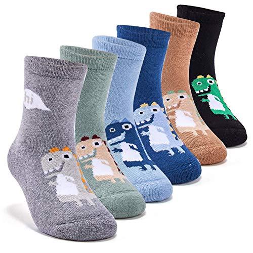 Toddler Boys Thick Cotton Socks Kids Warm Socks Winter Thermal Crew Socks 3-5 Years