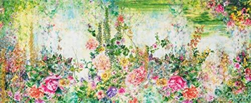 Confezioni.Giuliana Tappeto PASSATOIA Cucina Bagno Shabby Garden Fiori cm 58x80 115 140 190 240 280 (58x280)