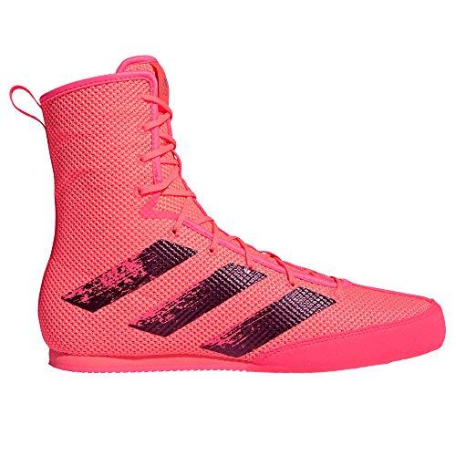 adidas Box Hog 3 - Botas de boxeo (talla 44), color rosa y negro