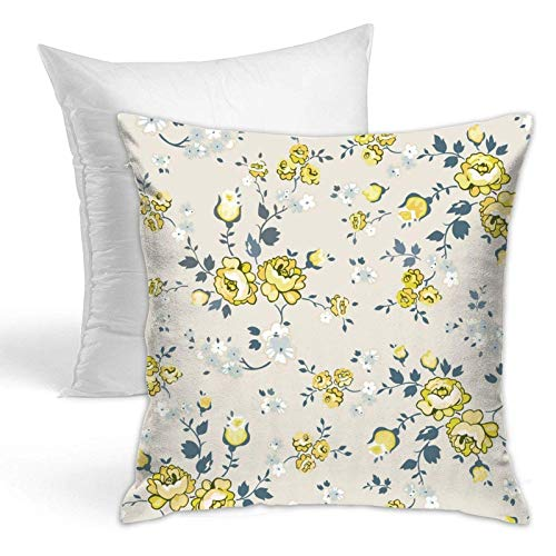 Reposacabezas almohada y almohadas. 45,7 x 45,7 cm, un juego floral