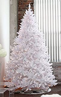 HOLIDAY STUFF 5 Feet Pre-lit Sparkling White Christmas Tree with Clear LED Light (5ft Prelit)