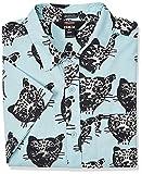 Volcom Men's Outer Banks x Netflix OBX John B Short Sleeve Woven Shirt, Blue Fog, Medium