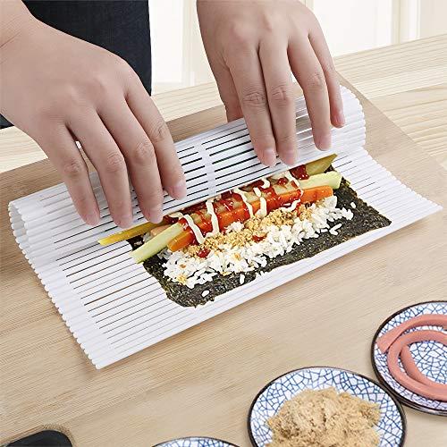 iTimo Sushi - Esterilla para hacer sushi con algas, antiadherente, plástico, color...