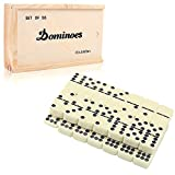 Dominoes Set for Kids, Doublefan Classical Double 9 Dominos Game Set with Spinner 55pcs (2-7 Players) (55 PCS)