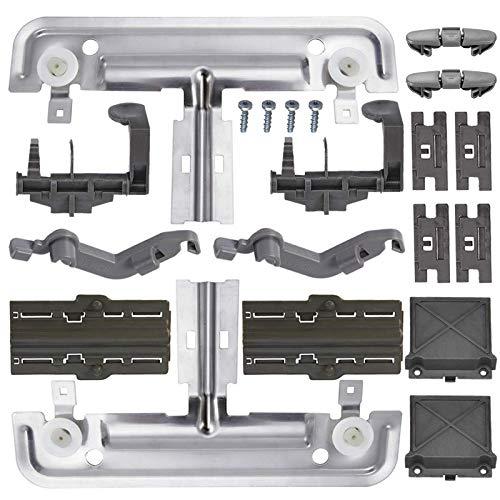 Upgraded 20 PCS W10712395 Dishwasher Upper Rack Adjuster Metal Kit &...